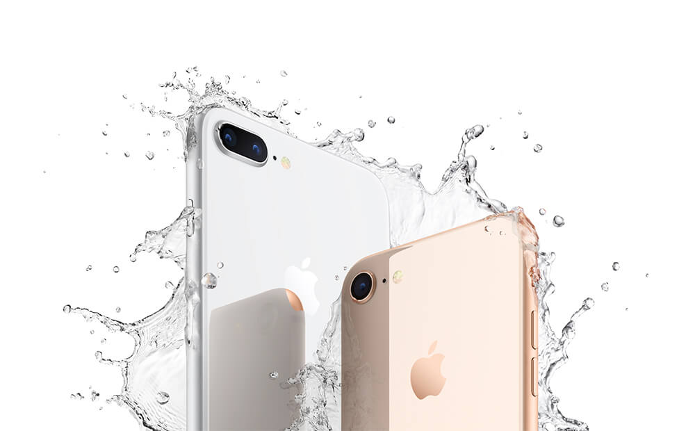Spritzwasserfestes iPhone 8 und iPhone 8 Plus