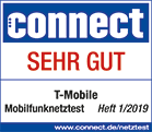 Connect Mobilfunknetztest 2019 sehr gut
