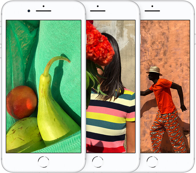 Brillante Farben: iPhone 8 Displays
