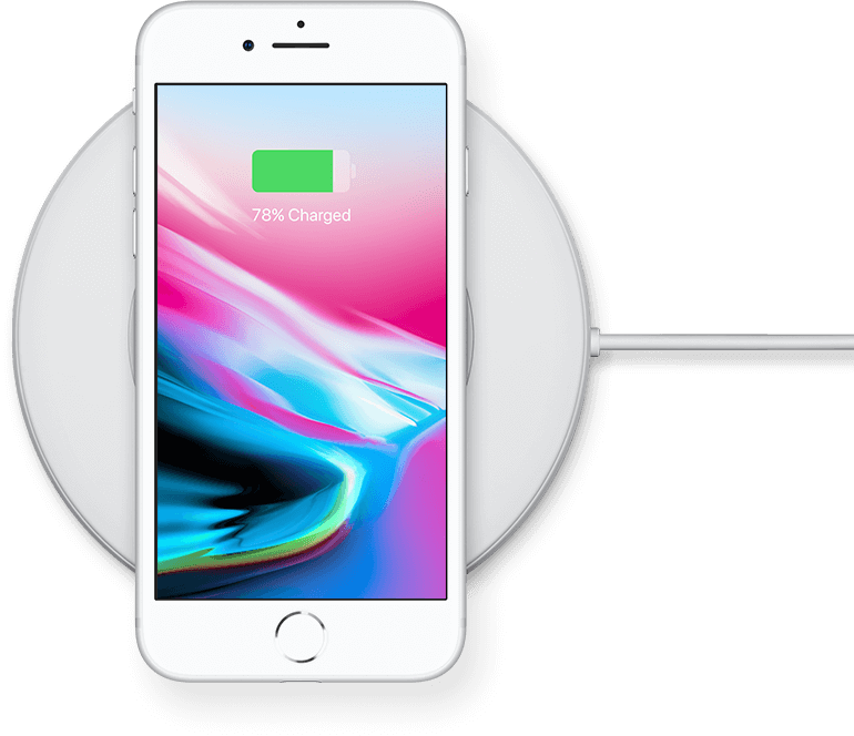 Kabellose Ladestation des iPhone 8
