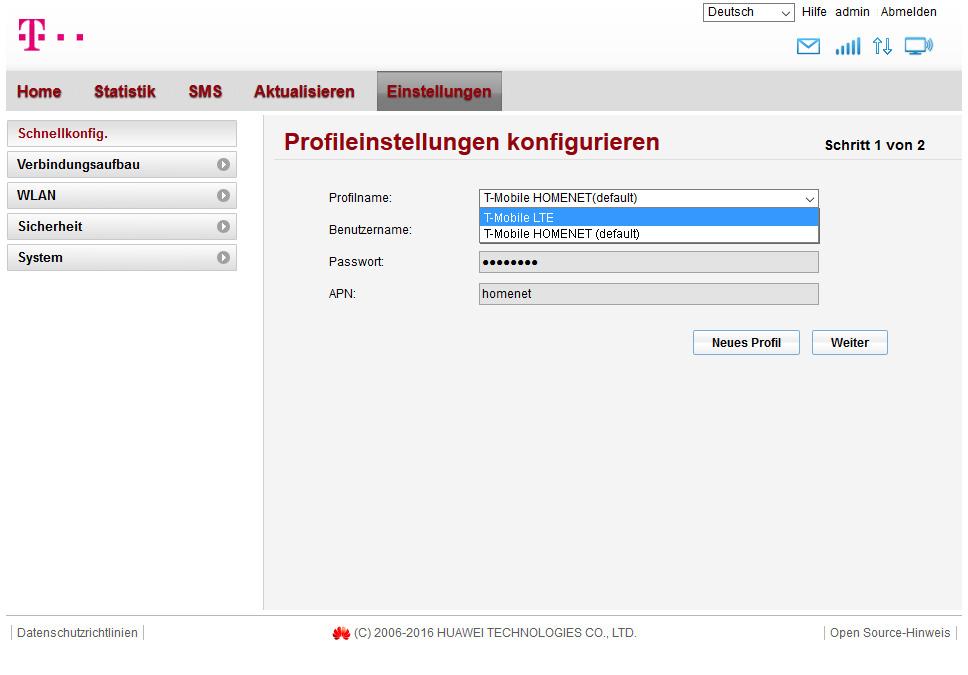 T Mobile Internet Box Einstellungen Homenet Aktivierung T